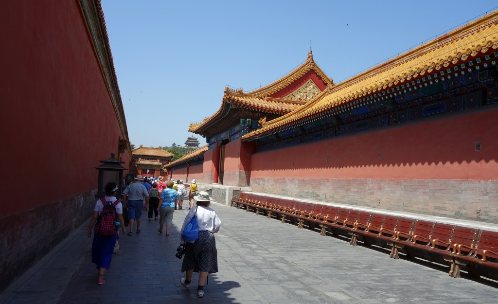 Forbidden city: Passageway to where the concubines lived