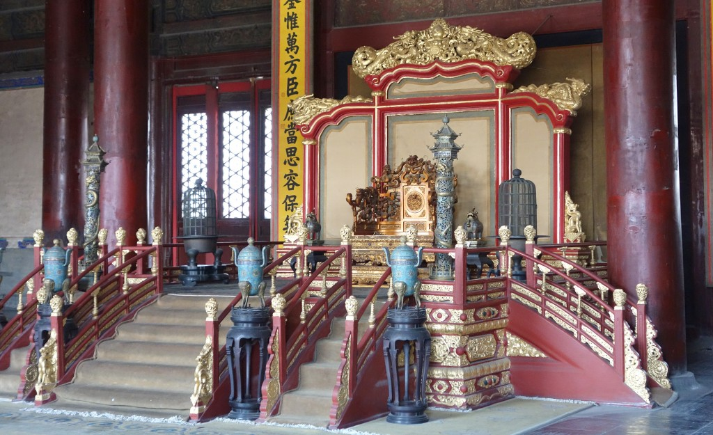 Chinese throne in Forbidden City