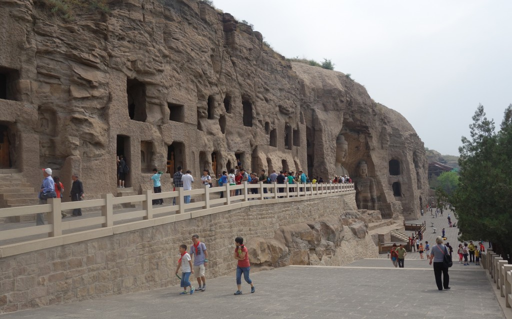 Yungang China general view of grottoes and Buddhas