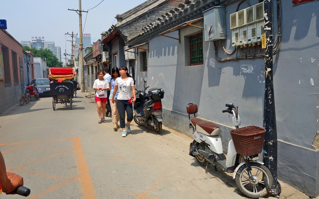 Beijing: Hutong street with bike