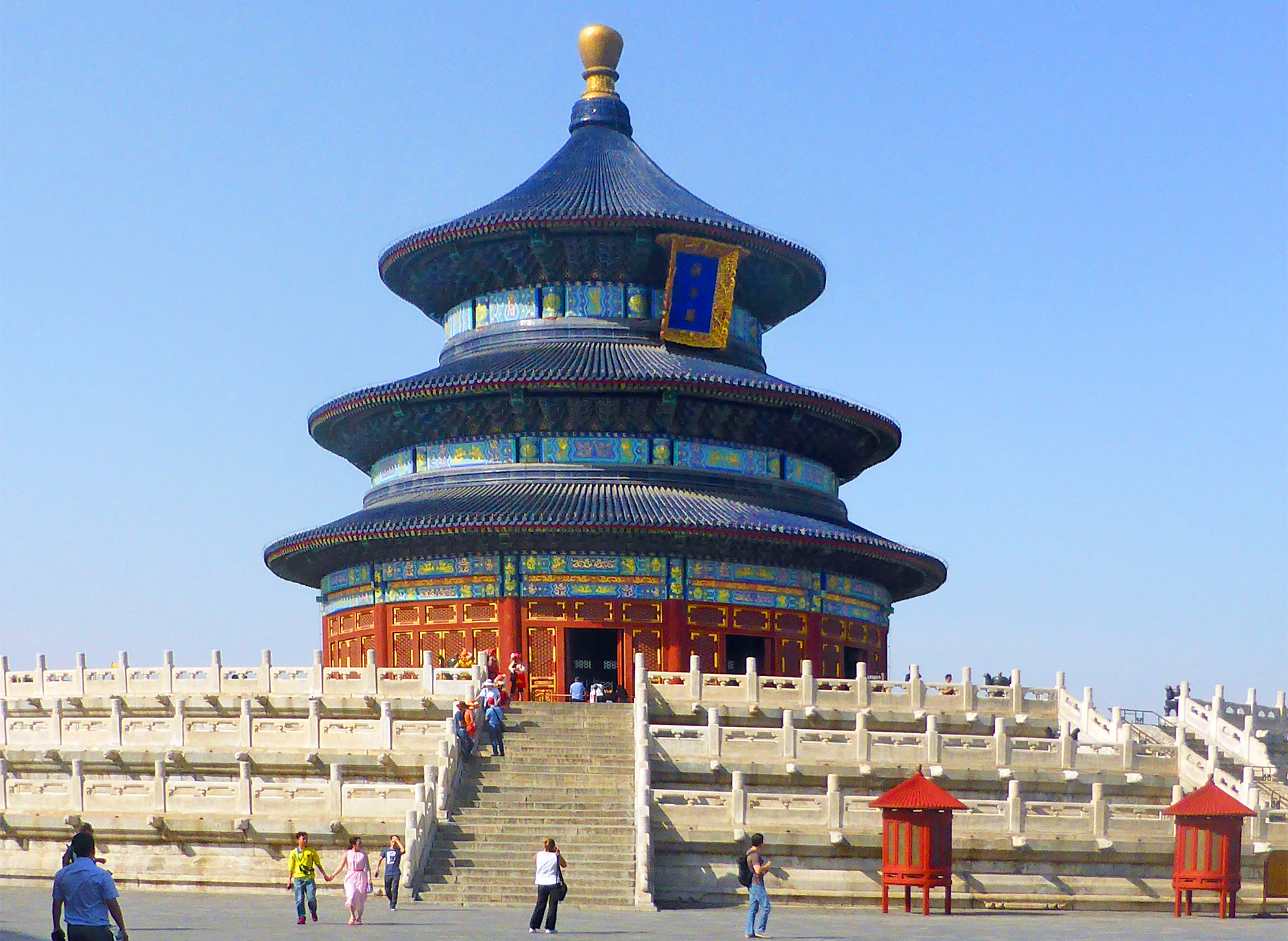 Temple of Heaven with blue tiles