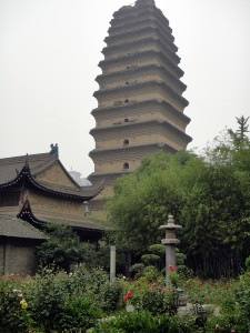 Small Goose pagoda in Xian, China