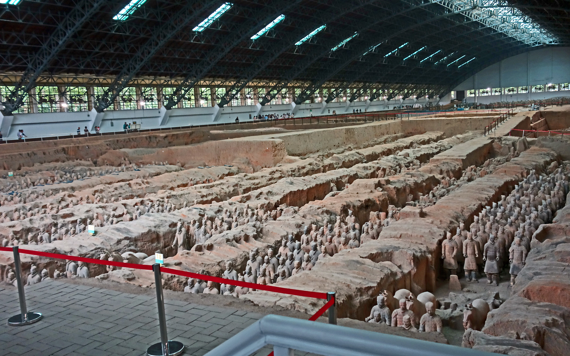 Terracotta warriors cover building