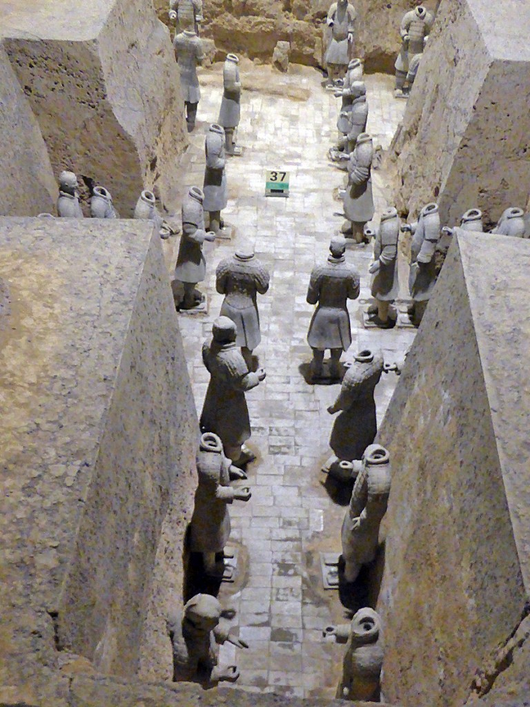 Terracotta army Pit 3, elete soldiers