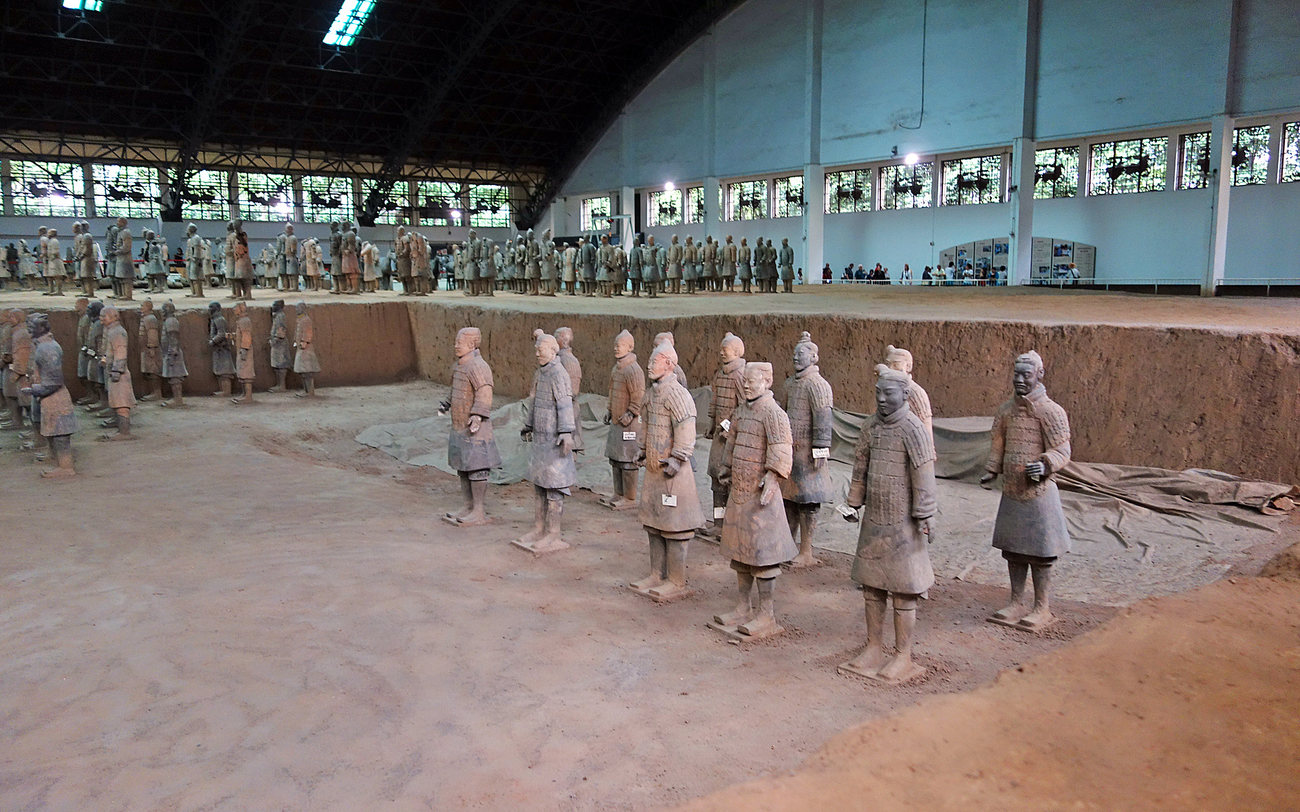 Terracotta army restored statues