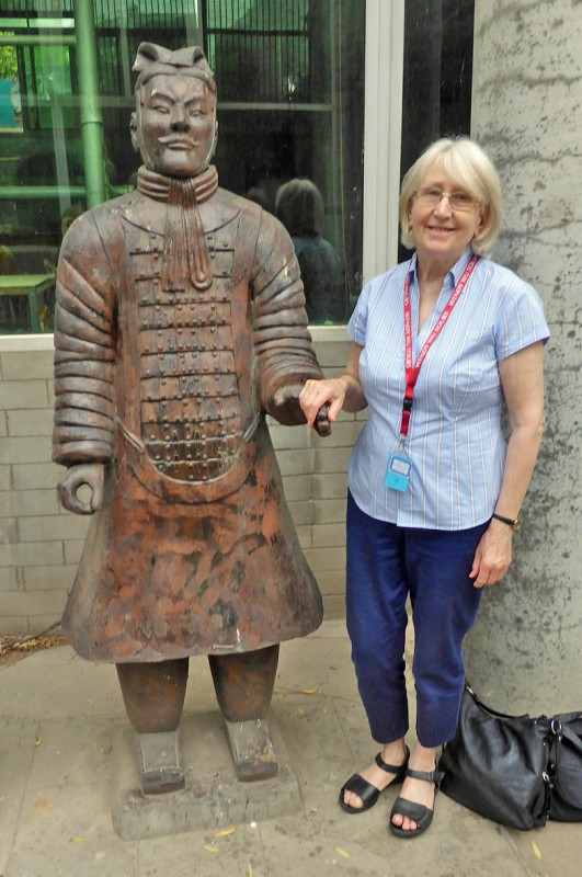w with terracota warrior 956